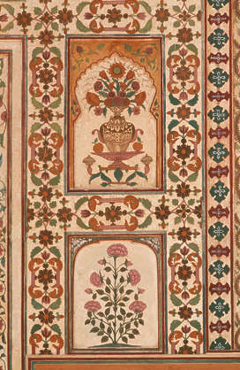 india ornament panel mural flower border trim