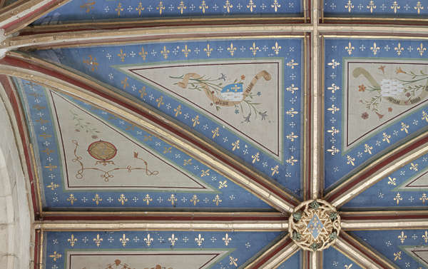ornate ornament ceiling arch mural fresco
