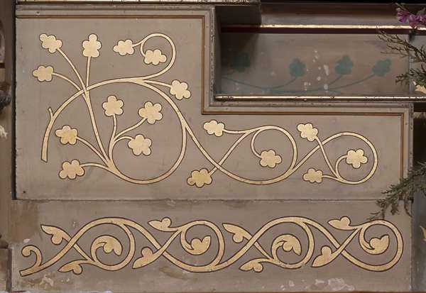 ornament ornate painting mural gold gilded flowers
