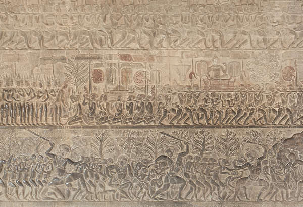 cambodia wall ornament ornate relief