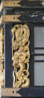 ornament gilded gold trim detail detailed ornate oriental japan temple shrine relief dragon