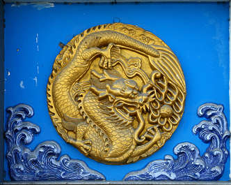 ornament relief dragon chinese