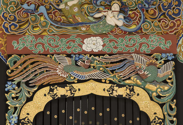 ornament temple shrine japan mural painted