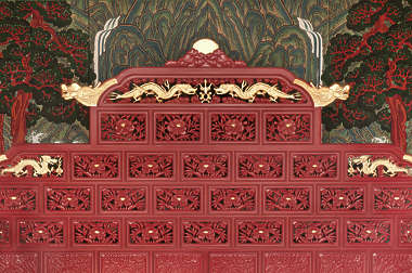 south korea ornament temple ornate mural painting wood asia asian