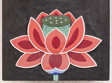 south korea ornament temple ornate mural painting flower asian asia