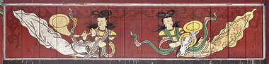 south korea ornament temple ornate mural painting wood asian asia