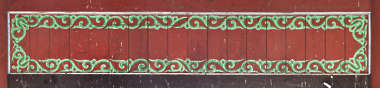 south korea ornament temple ornate mural painting wood panel asian asia