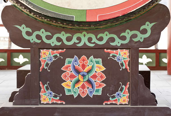 south korea ornament temple ornate mural painting asian asia