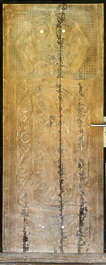 door asian old ornate carving ornament