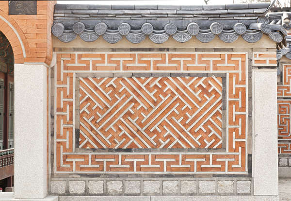 south korea ornate wall bricks brick ornament