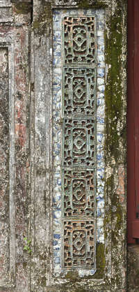 ornament asian vietnam border panel