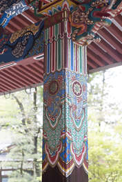 ornament ornaments japan pillar temple ornate pattern painted shrine mural oriental asia