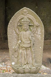 statue buddha stone relief temple asia japan