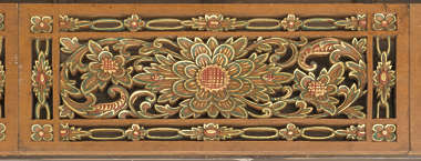 ornament wood carving flower japan