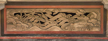 ornament wood panel temple shrine japan carving relief wooden