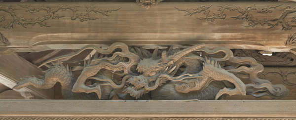 ornament beam ornate carved carving temple shrine japan relief birds wooden