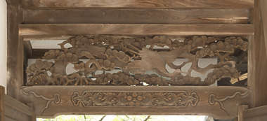 ornament wood carving relief temple shrine japan bird birds tree leaves panel wooden