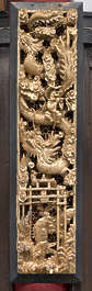 ornament temple shrine japan relief panel gold gilded