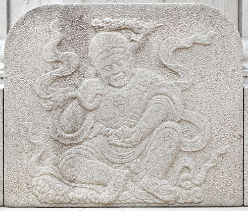 south korea ornate ornament relief oriental