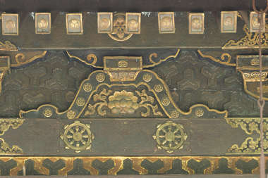 ornament gilded gold bronze brass temple shrine japan roof roofing