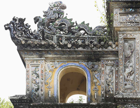 ornament asian vietnam roofing cornice