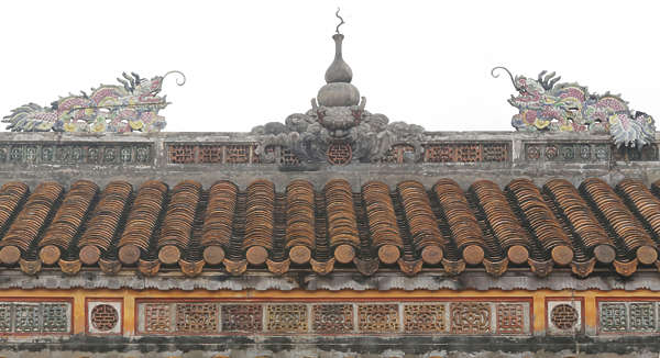 ornament asian vietnam border trim roofing