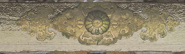 ornament gilded gold bronze brass temple shrine engraved engraving japan