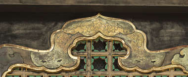 ornament gilded gold trim detail detailed engraved engraving ornate oriental japan temple shrine window