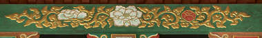 japan ornament trim border painted mural flower