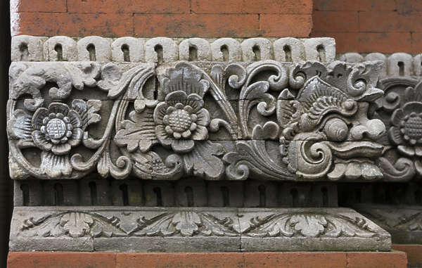 asia indonesia oriental ornament cornice detail border trim