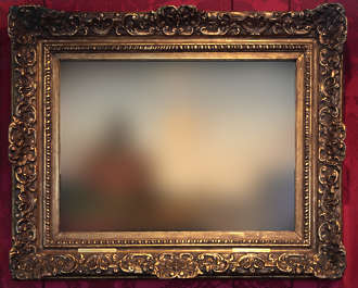 painting frame picture ornate ornament border city