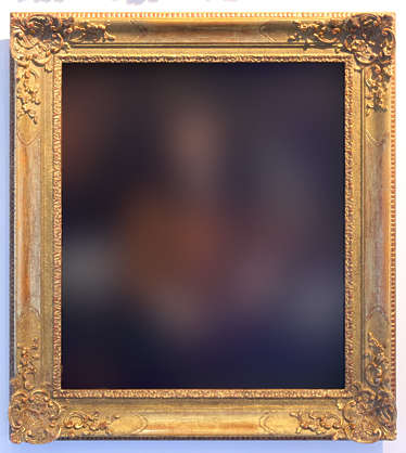 painting frame picture ornate ornament border portrait