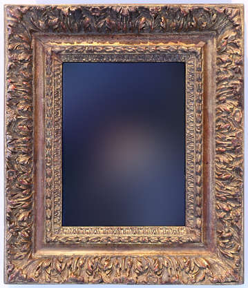 painting portrait frame ornate border