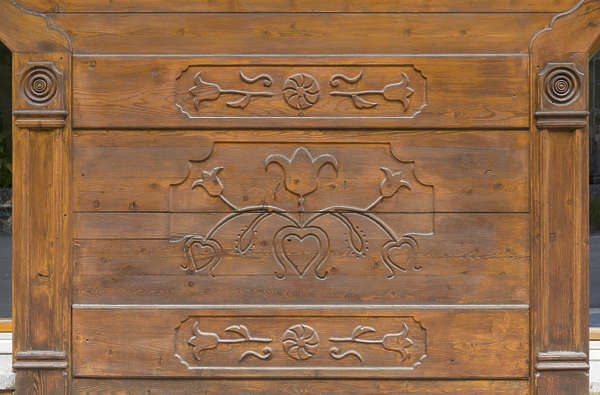 wood ornament ornate flower flowers panel
