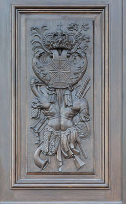 ornate panel relief wooden