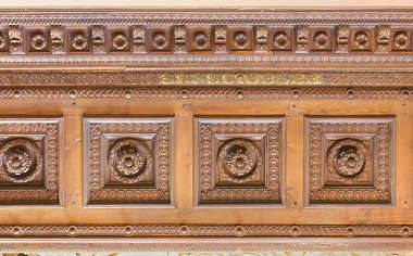 ornament wood border panels france