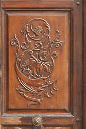 wooden ornament panel relief spain