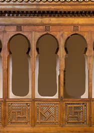 wood panel panelling fence balcony morocco church