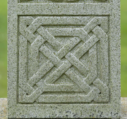 UK ornament ornate celtic stone panel