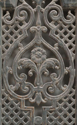 window grate metal fence ornament ornate