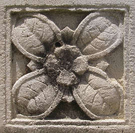ornament flower stone