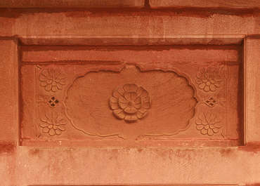 india ornament panel flower