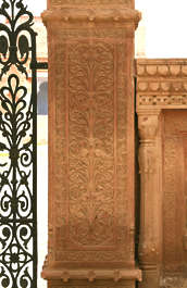 india ornament panel ornate column