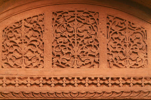 india ornament panel stone carving