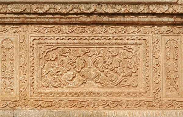 india panel ornament ornate carving stone