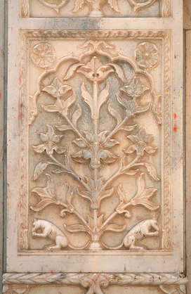 india ornament ornate panel stone carving