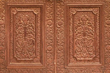 india ornament panel wood door ornate carving