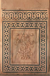 india ornament panel flower marble carving