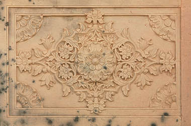 india ornament panel carving stone marble ornate
