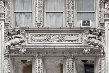 new york ny ornament border panel building facade ornate